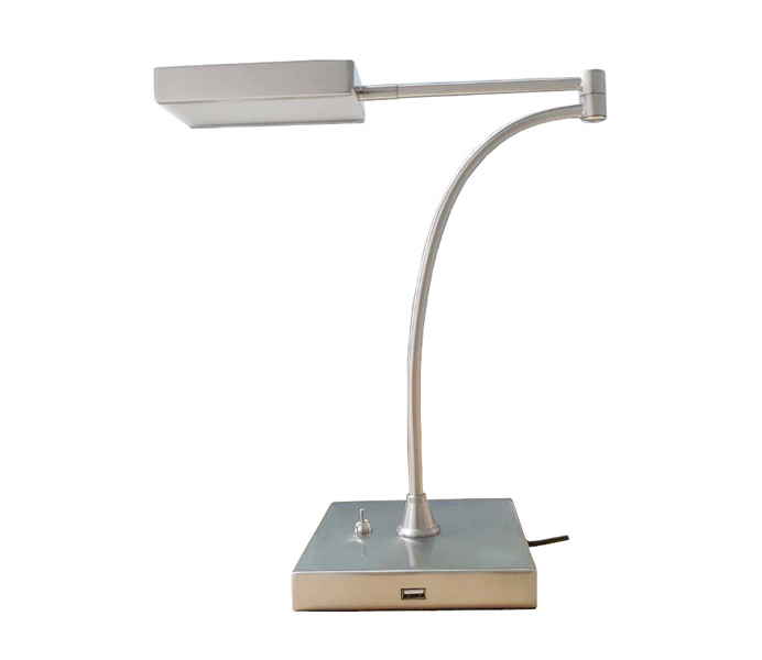Metal 5W LED 5000K Table Lamp with USB Outlet