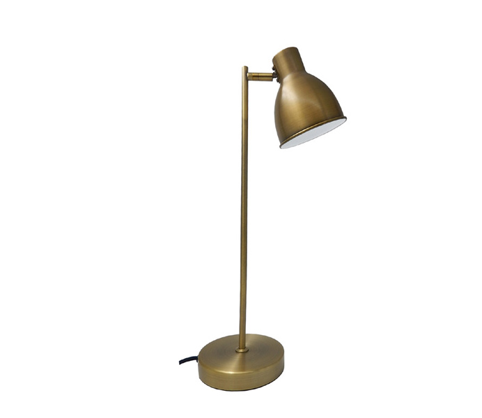 Simple E27 Desk Lamp with Copper Color