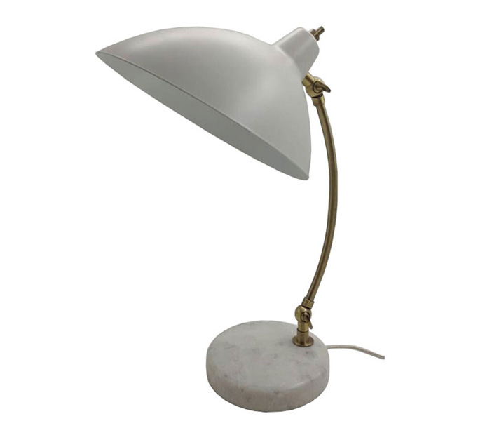 Modern Metal Desk Lamp with Marble Base