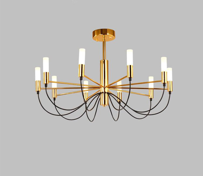 Contemporary Metal Chandelier Light with LED Lights