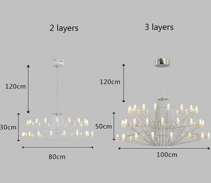 Amazing White Metal Hanging Lamp for Living Room
