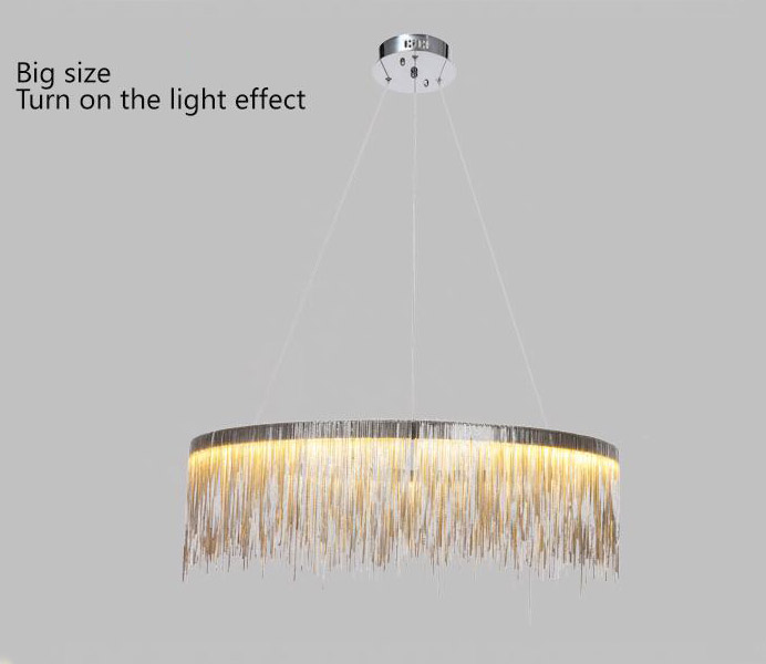 Chrome Color Aluminum Round Suspension Light for Wholesale
