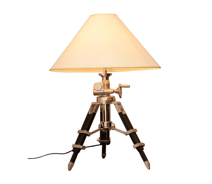 Quality Table Lamps: High Quality Contemporary Tripod Table Lamps With Fabric