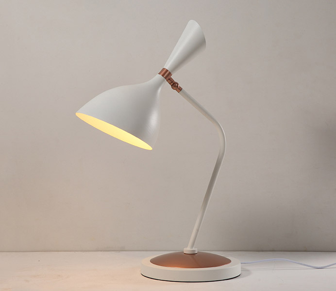 Modern Bent Iron Table Lamps with Iron Lampshade