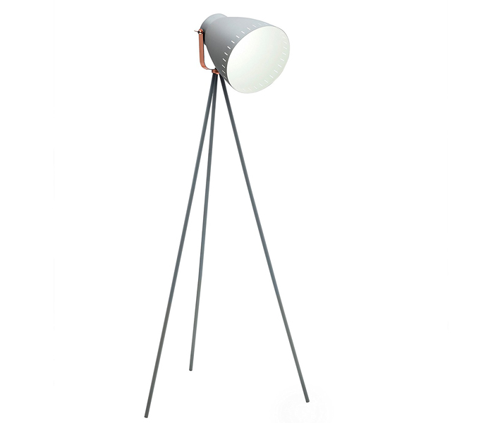 High Quality Minimalist Gray Tripod Floor Lamps with Metal Shade