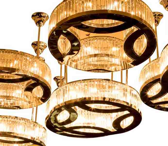 High Quality Round Stainless Steel Chandelier with Crystal Design