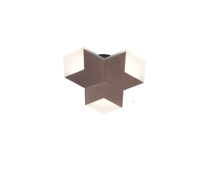 Aluminum Three LED  Lights Hexagon Wall Ceiling Lamp with Eagle  Driver