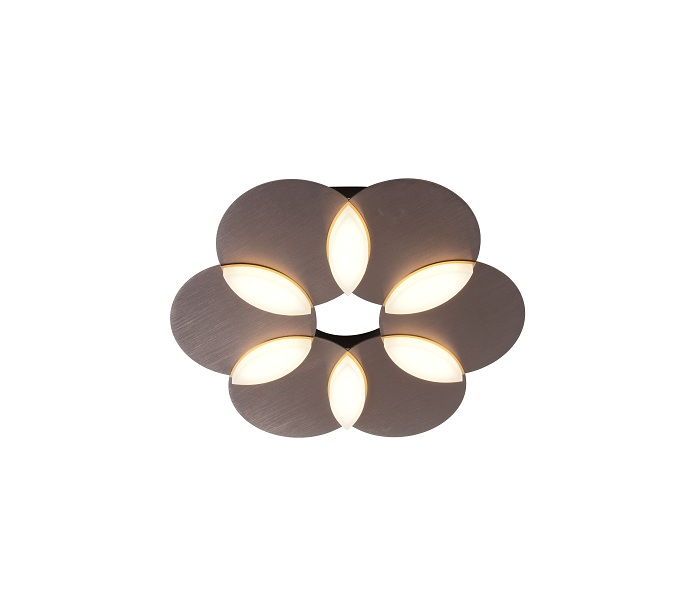Brown Round LED  Unite Chrome Ceiling Wall Light with  3000K and 7000K