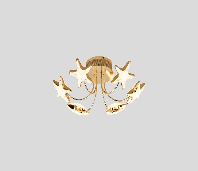 Silver Color LED Stars Ceiling Lamp with 19 Lights