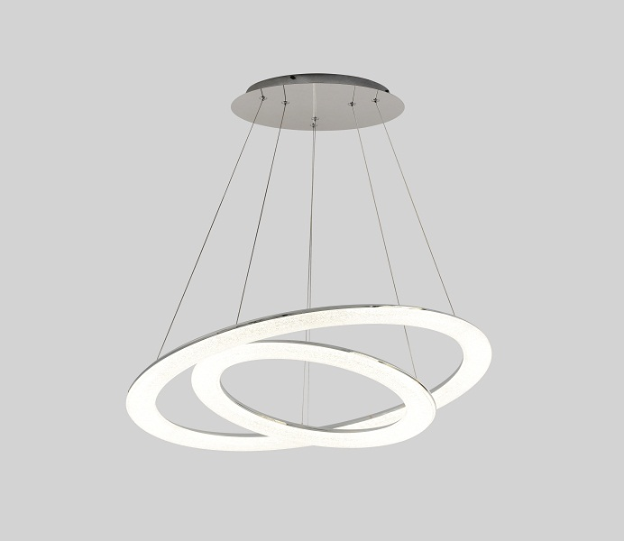 Hot Sale Round LED Three Rings with Mini Crystal Acrylic Shade