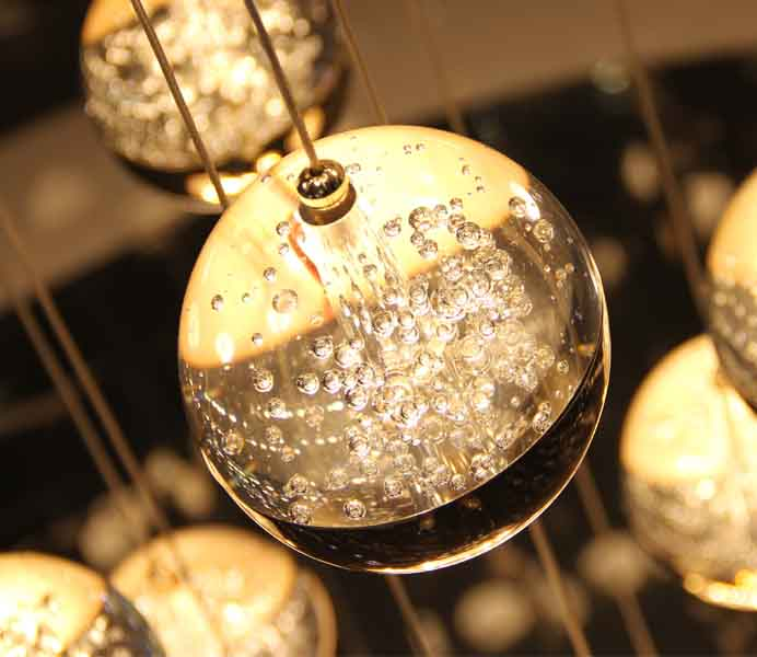 High Quality Crystal Balls Pendant Lamps for Custom Lighting Projects