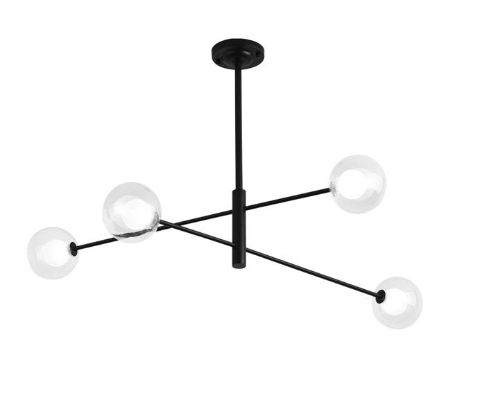 Black Modern Iron Pendant Light with G4