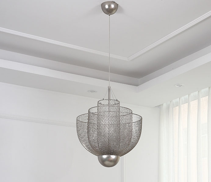 Chrome Iron Nordic Chandelier for Restaurant Hotel Project