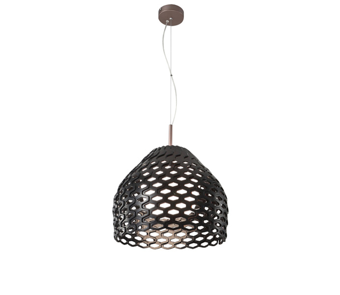 Modern Dark Brown Acrylic Pendant Lighting for Kitchen Decor