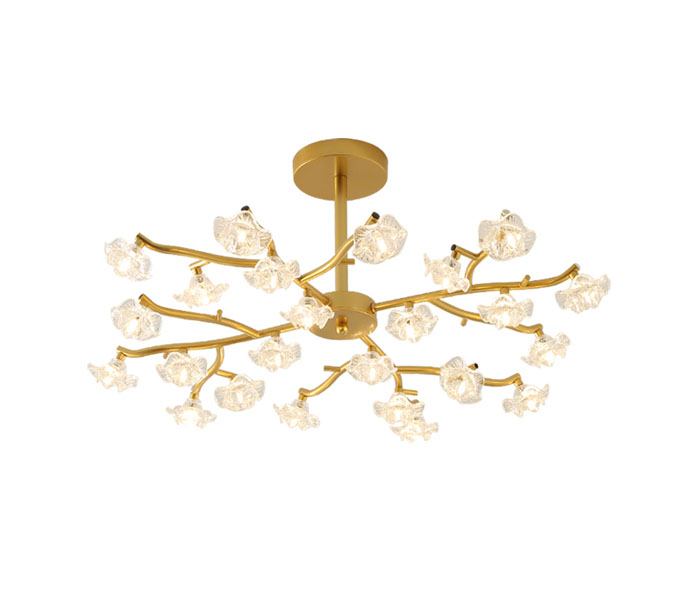 Gold 30 Heads Tree Branch Chandelier