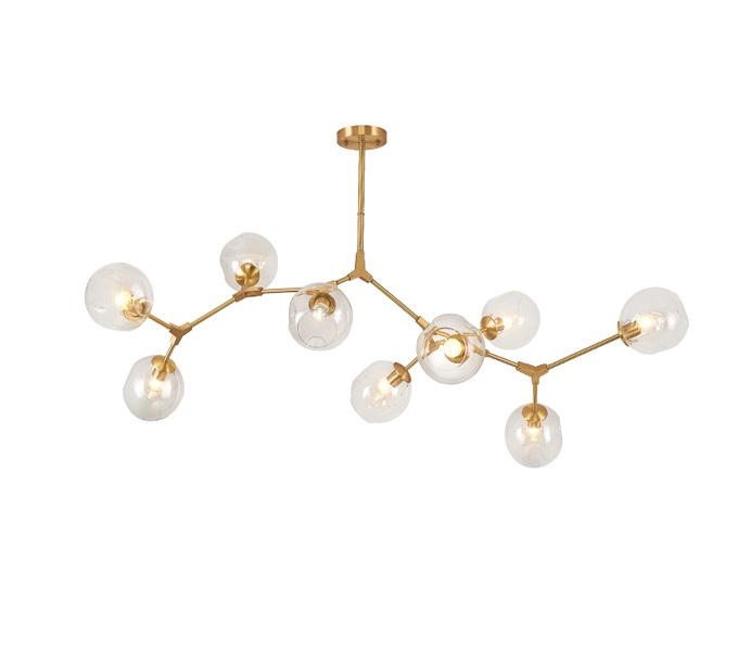 5 Lights Brass Postmodern Tree Branch Chandelier