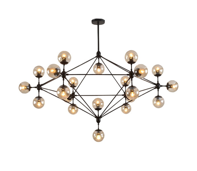 Hot Sale Modern Black 21 Lights Iron Chandelier for Livingroom