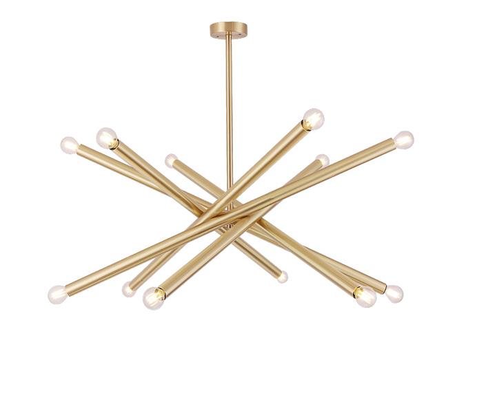 Brass 12 Lights Pendant Lights with E27