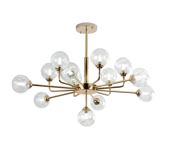 13 Lights Gold Tree Branch Chandeliers with G9 Lights