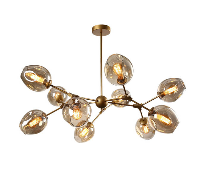Hot 10 Lights Black Chandeliers with E27