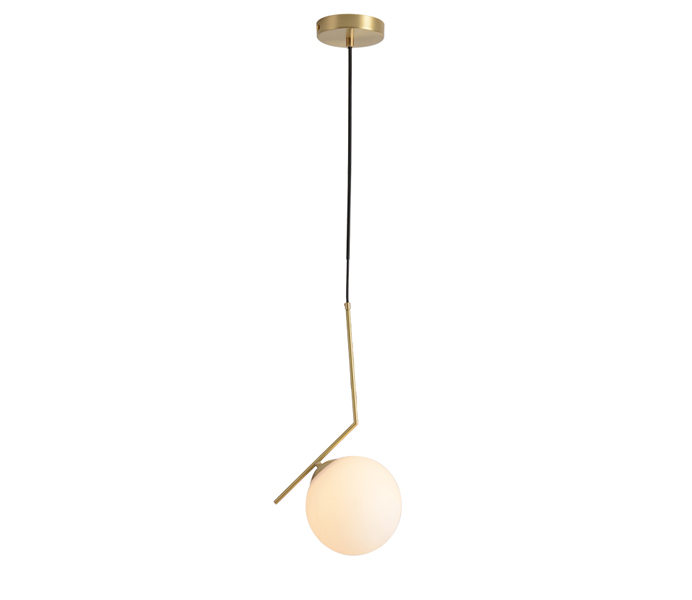Simple Gold Brass Pendant Lights with Glass Shade