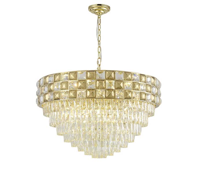 Affordable Luxury Gold Dia 800 Steel Chandelier with Crystal