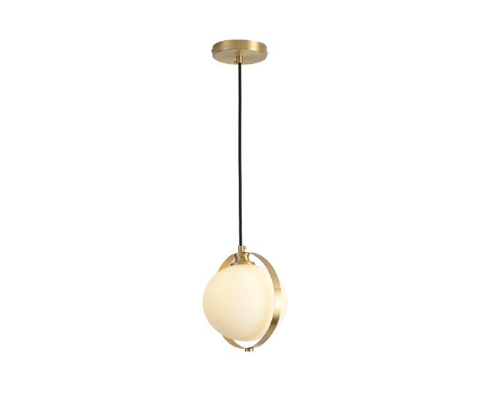 Modern Gold E27 Pendant Light with Glass shade