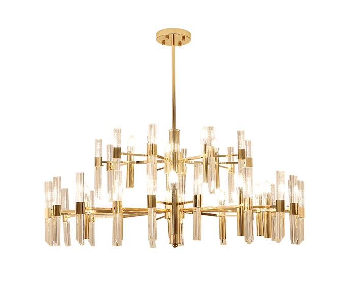 12 Lights Gold Iron Chandeliers with E14