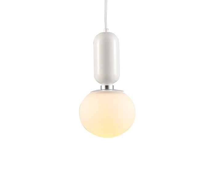 Simple White Iron Pendant Light with E27