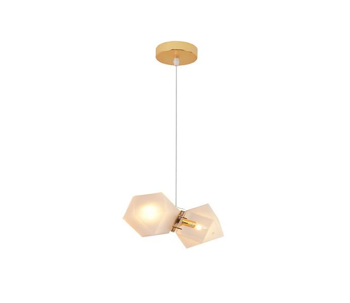 DIY Glass Honeycomb Pendant Light with E14