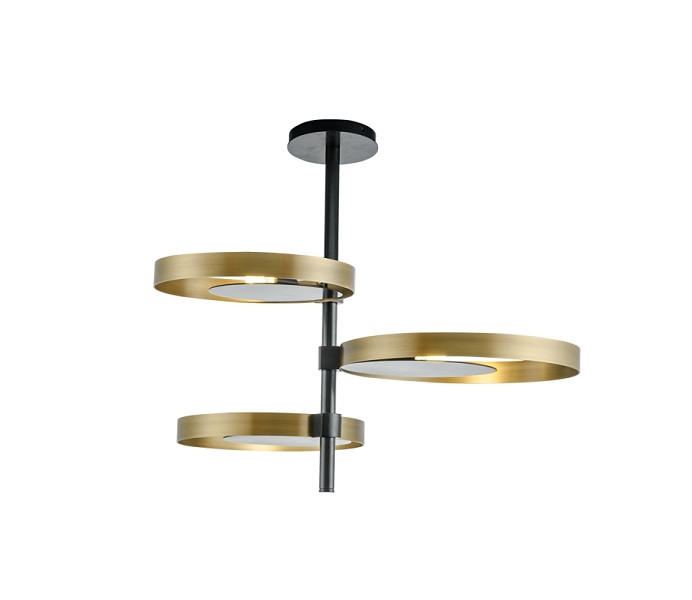 Inward Brass Gold Pendant Lights with E14