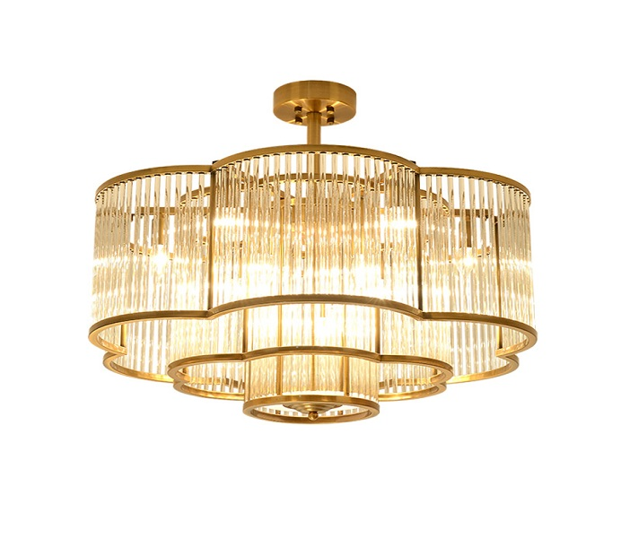 Dia 600 Iron Gold Chandelier with Crystal