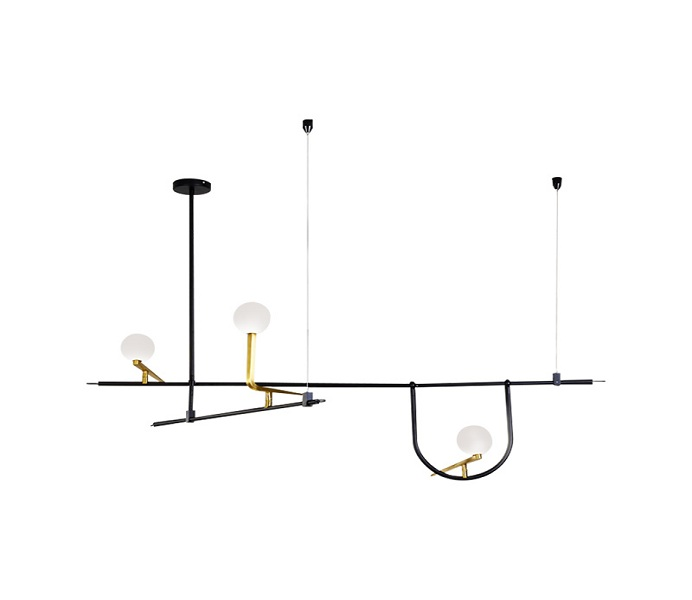 3 Lights Black Bird Pendant Lights with G4