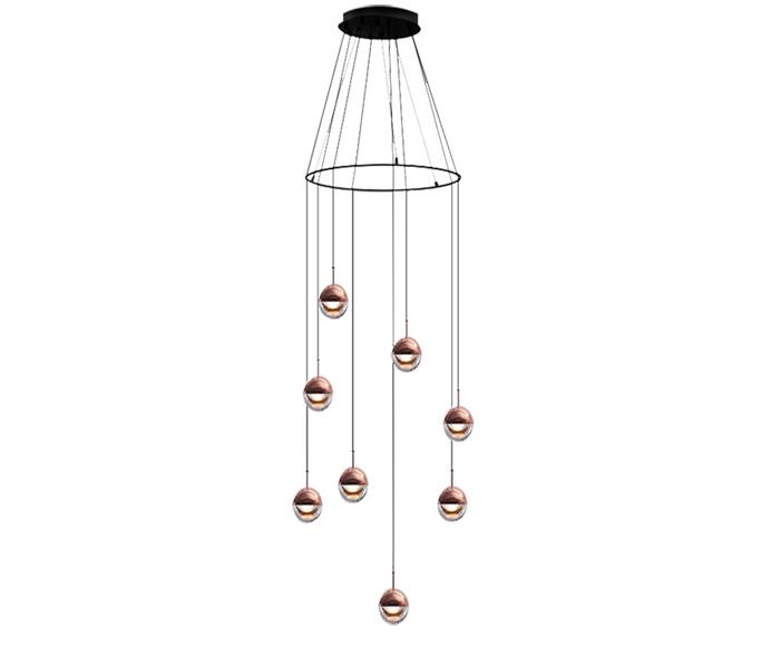 Dia100 Iron G4 Pendant Lights with Acrylic