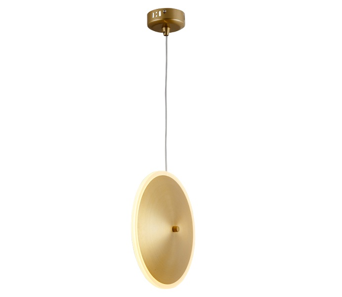 Hot Sale Round Gold Aluminum Geometric Pendant Light with LED