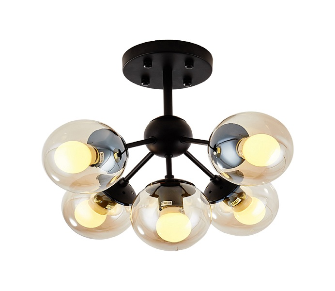 Black 3 Lights Iron Pendant Lights with E27