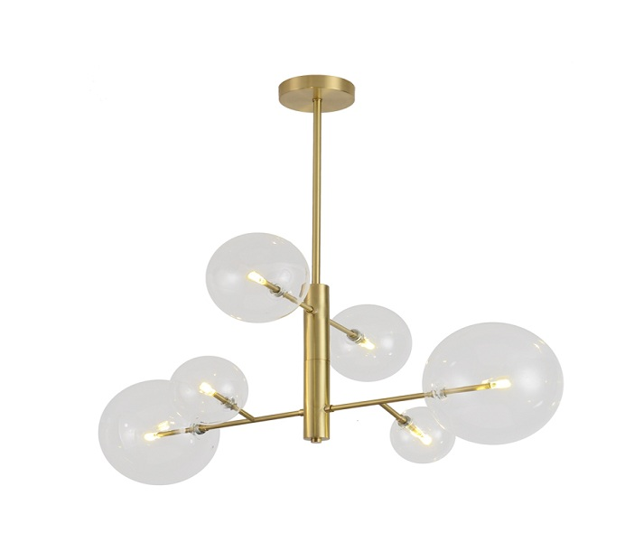 8 Lights Gold Brass Pendant Lamps with G9