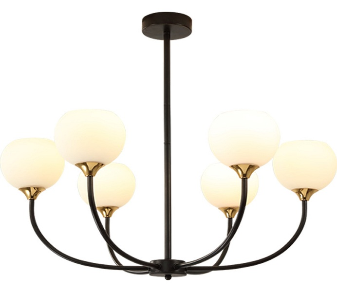 Dia600 6 Lights Black Chandelier with E27