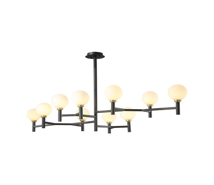Black Tree Branch Iron 12 Lights Chandelier with E14