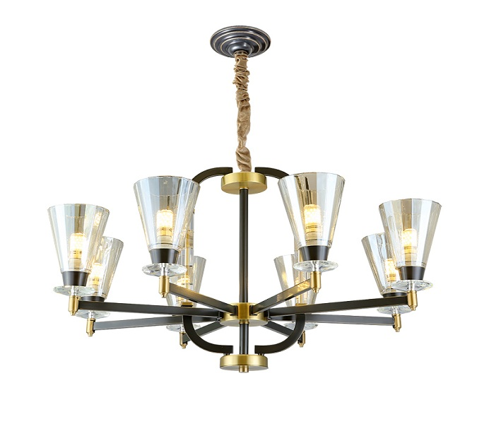 8 Lights Gold Brass Dia800 Chandelier with E14