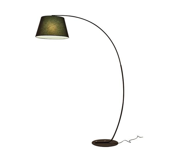 Black Bent Iron Floor Lamp with E27