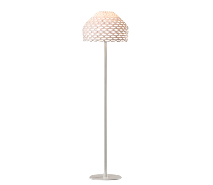 Brown Iron Floor Lamp with Acrylic Shade