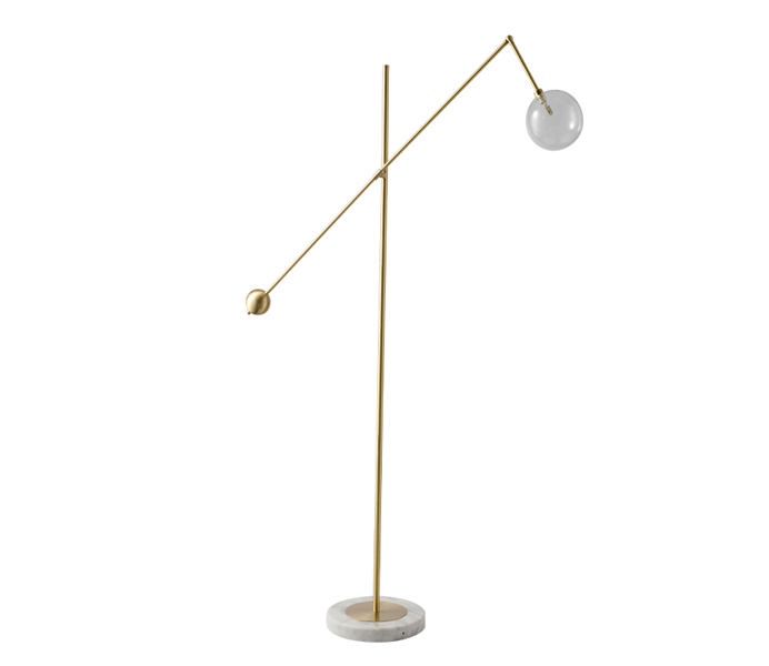 Brass Marble Floor Lamp with G9 Light