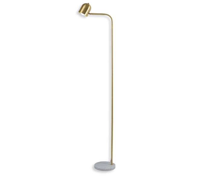 Brass Height 1700 Floor Lamp with Marble Base
