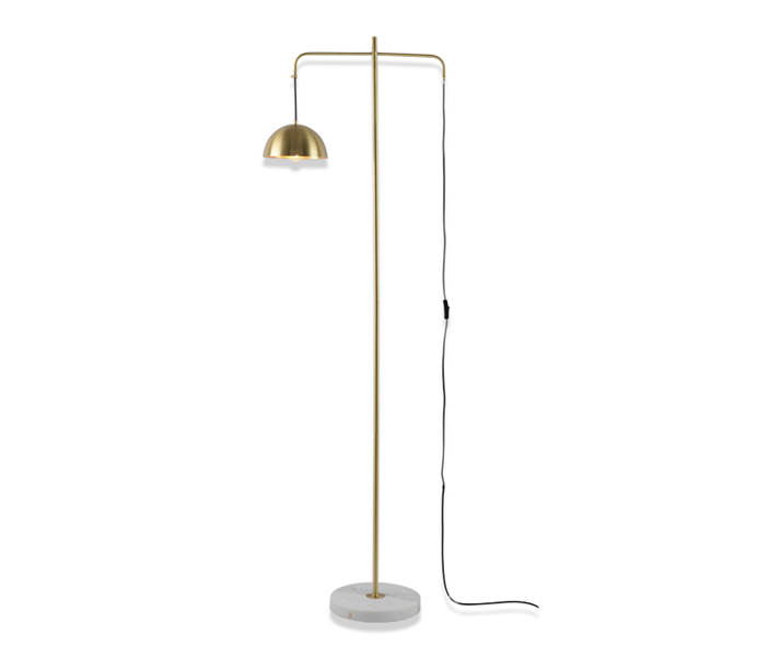 Brass Mable Nordic Style Floor Lamp with E27