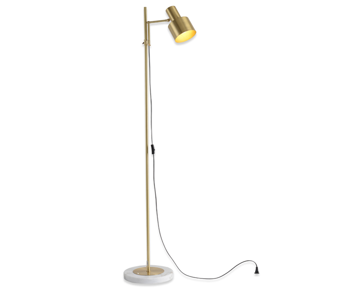 Brass Marble E27 Floor Lamp for Bedroom