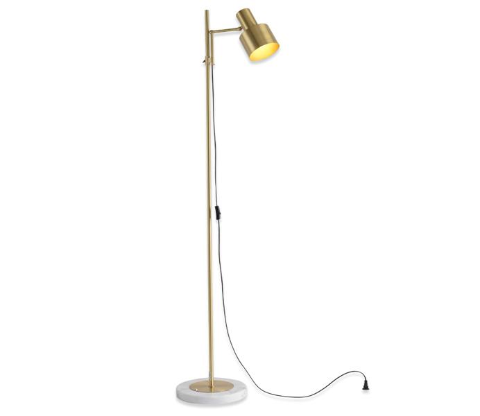 Brass Marble E27 Floor Lamp for Bedroom