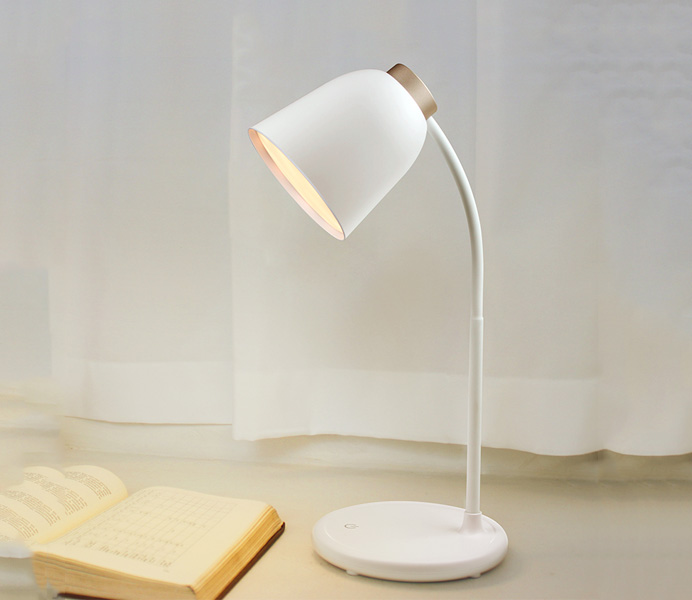 Simple White PC Table Lamp for Bedroom