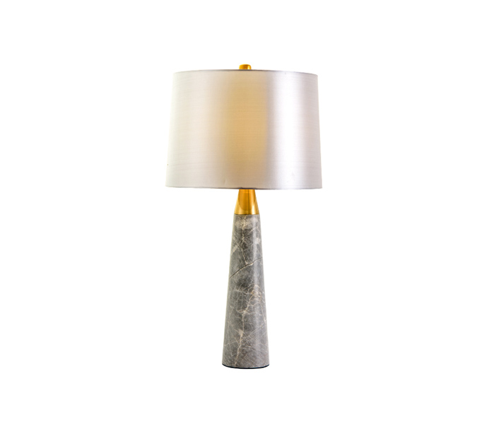 Elegant Marbel Base Table Lamp with Fabric Shade