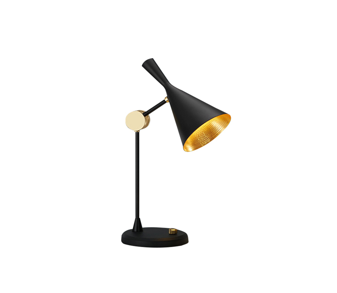 Black Aluminum Small Table Lamp with E14